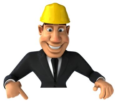Homme avec casque travaux